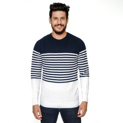 pull maille raye